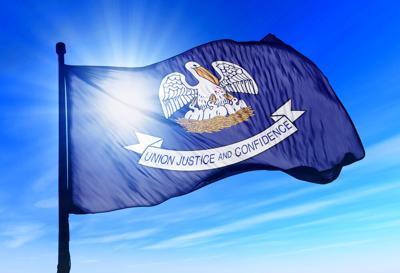 FILE - Louisiana state flag