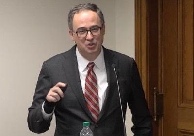 Georgia attorney William Custer at Senate committee meeting