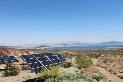 FILE - Solar Panels Renewable Energy Nevada