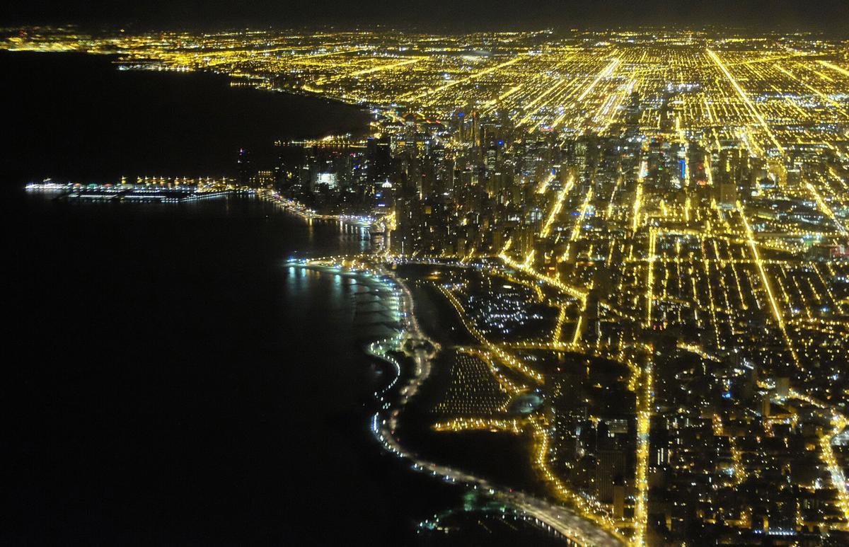 FILE - Chicago skyline