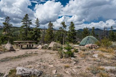 FILE - Rocky Mountain National Park Campground