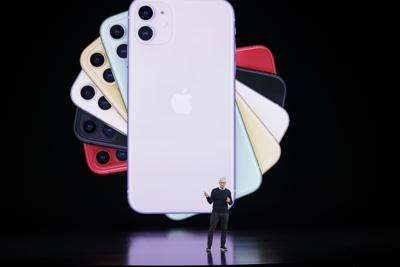 FILE - Apple Event, 2019, iPhone, smartphone, cell phone taxes