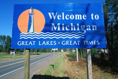 FILE - Welcome to Michigan