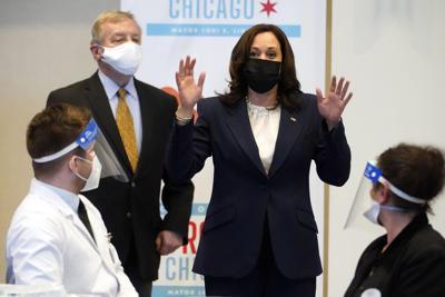 FILE - Vice President Kamala Harris, Chicago, 2021