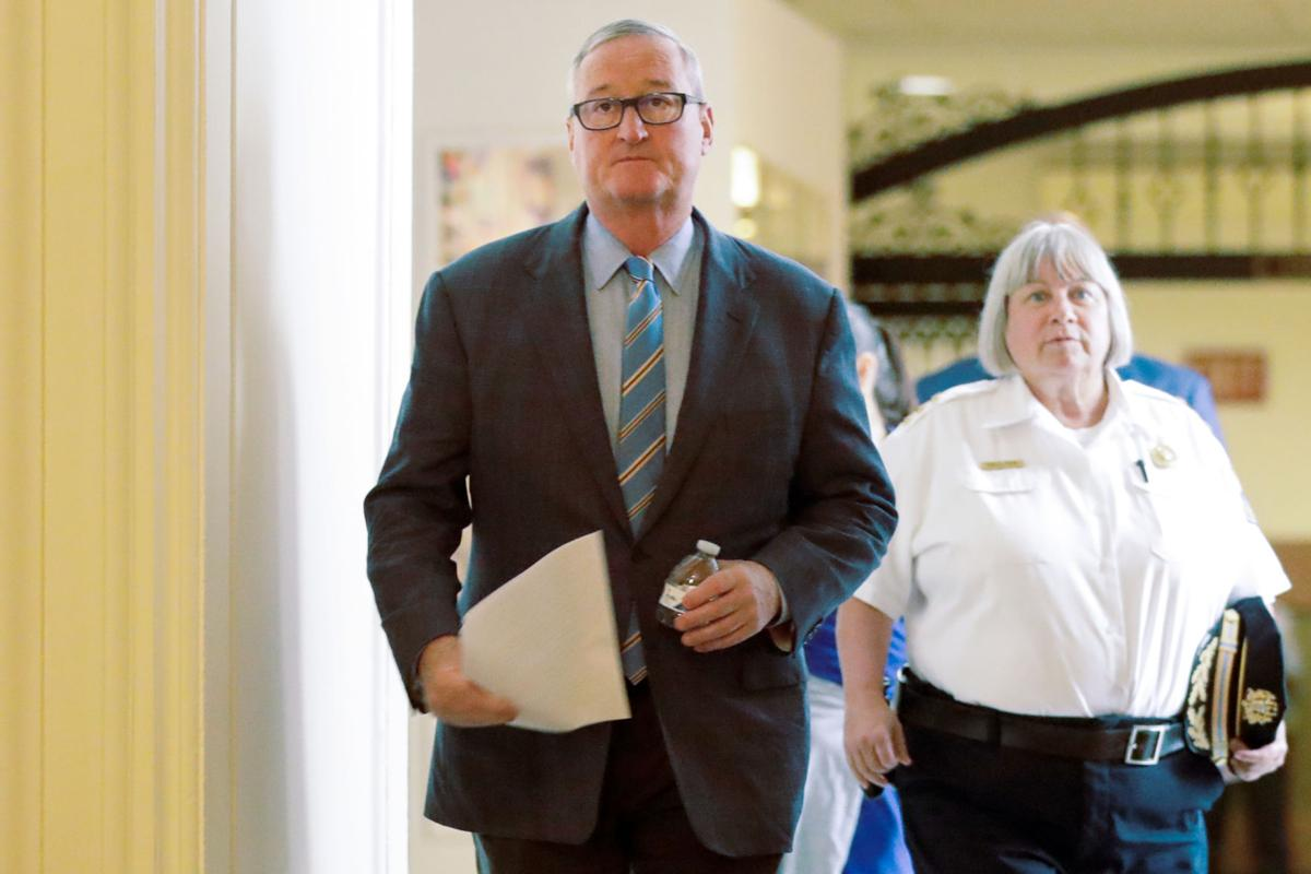 FILE - PA Jim Kenney, Christine Coulter 8-21-2019
