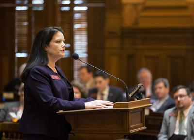 FILE - Georgia Rep. Mandi Ballinger