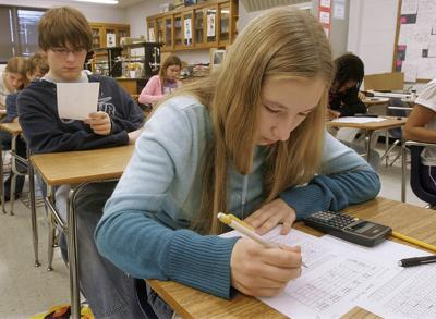 FILE - standardized tests, Illinois Budget Writing Test