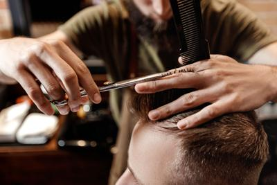 barber, barbershop stock photo