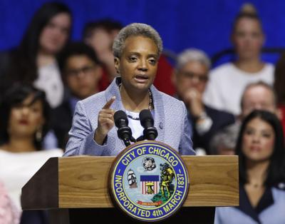 FILE - Chicago Mayor Lori Lightfoot