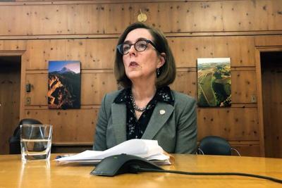 FILE - Oregon Governor Kate Brown