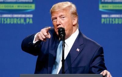 FILE - PA Donald Trump 10-23-2019