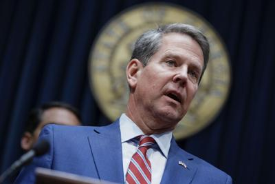 FILE - Georgia Governor Brian Kemp