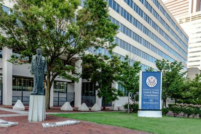 FILE - MD Garmatz Courthouse 7-9-2017