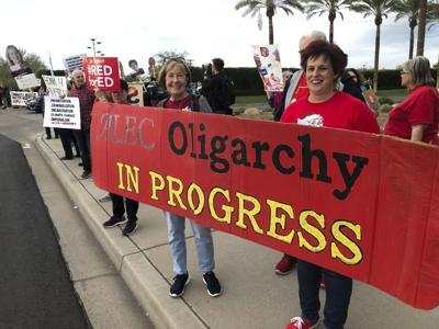 Conservative Legislative Conference Protest