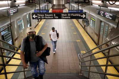 FILE - NY MTA, subway, Metropolitan Transportation Authority 6-8-2020
