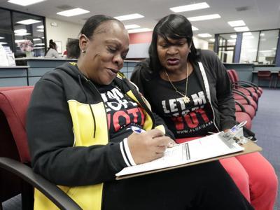 FILE - Florida Felon Voting Rights