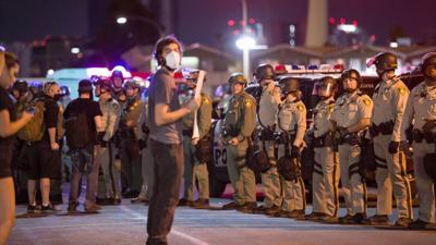 FILE - Las Vegas Police Protests