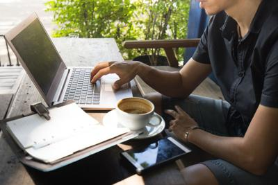 FILE - Remote worker work working from home