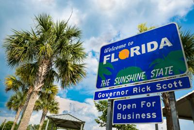 FILE - Welcome to Florida