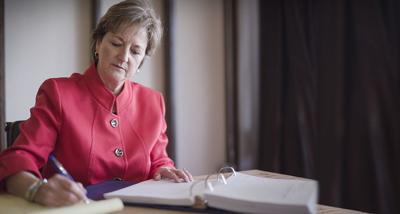 FILE - Sen. Sharon Hewitt