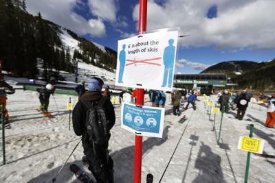 Virus Outbreak Colorado Skiing