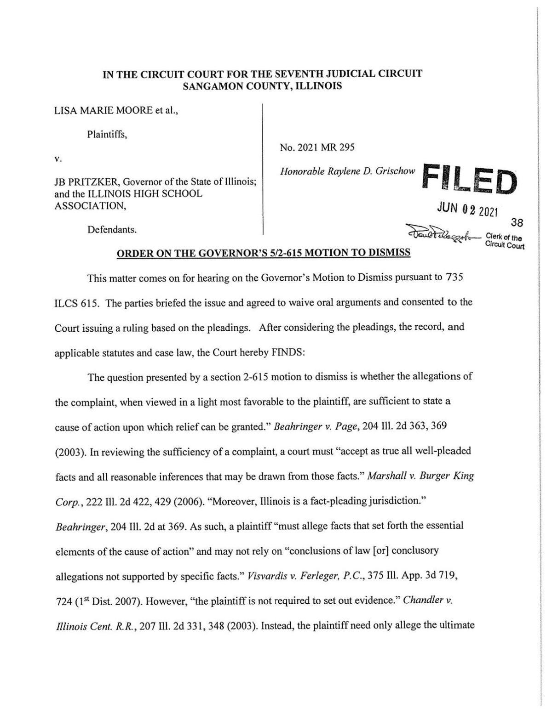 order to deny motion to dismiss 21-mr-295