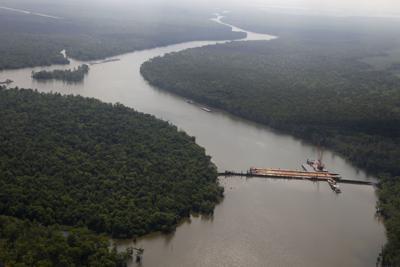 FILE - MIssissippi River Flooding Bayou Chene Atchafalaya Basin