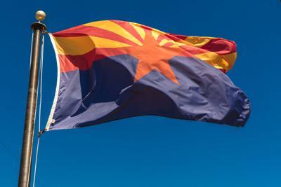 FILE - Arizona state flag