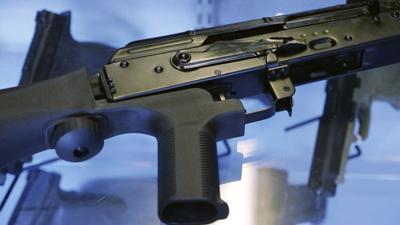 Bump stock on a semi-automatic rifle