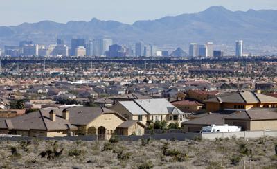 FILE - Homes in Las Vegas, Nevada