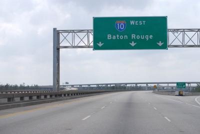 FILE - Baton Rouge Louisiana road interstate 10
