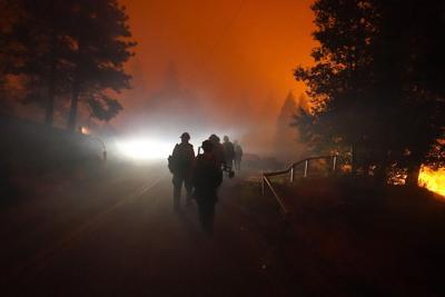 FILE — Washington wildfires smoke