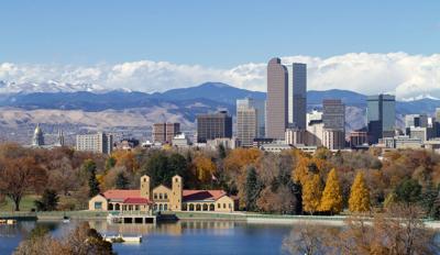 FILE - Denver, CO skyline