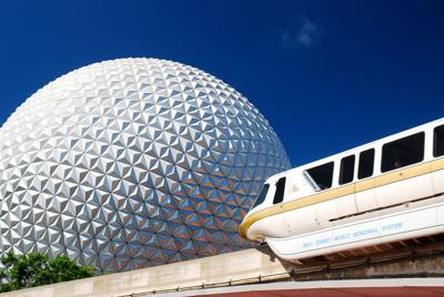FILE - Disney World, Epcot, Florida tourism
