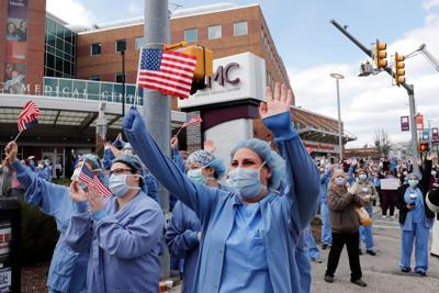 FILE - NH nurses, health care, hospital 4-17-2020