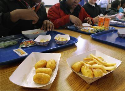 FILE - Illinois school lunch