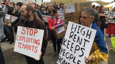 FILE —Oregon renter protest