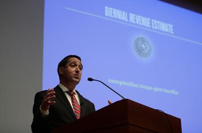 FILE - Texas Comptroller Glenn Hegar