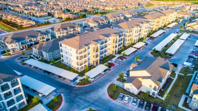 FILE - Texas apartments