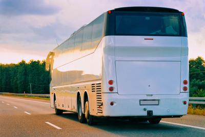 FILE - Charter bus