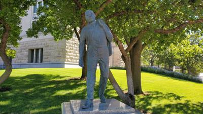 FILE - MLK statue