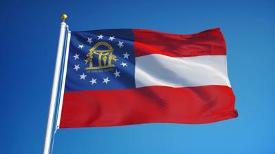 FILE - Georgia state flag
