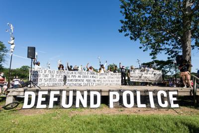Minneapolis defund the police George Floyd protest