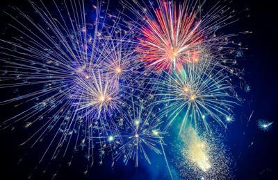 FILE - Fireworks