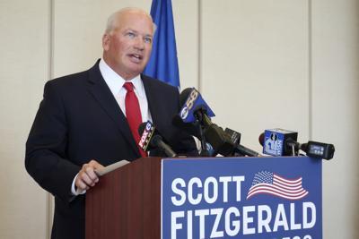 FILE - WI Sen. Scott Fitzgerald announces candidacy