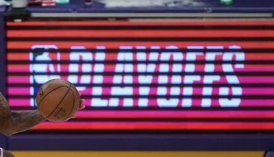 FILE - NBA Playoffs Basketball