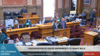FILE - Colorado Senate votes on bill amendments