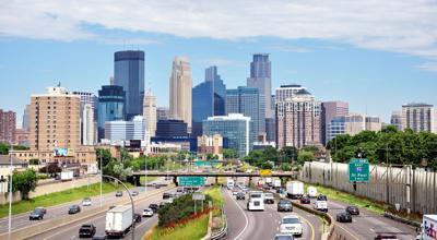 FILE - Minneapolis traffic