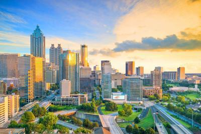 FILE - Atlanta skyline
