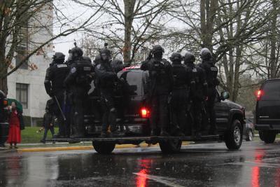 FILE –Salem police crowd control